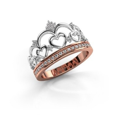 Ring Kroon 2 585 rose gold zirconia 1.2 mm