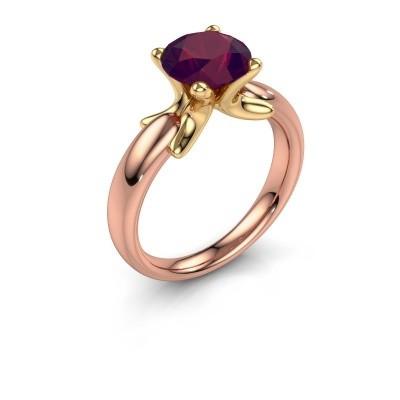 Ring Jodie 585 rose gold rhodolite 8 mm