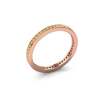 Aanschuifring Elvire 1 375 rosé goud gele saffier 1.1 mm