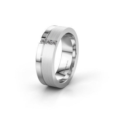 Wedding ring WH0327L16B 925 silver zirconia ±0.24x0.08 in