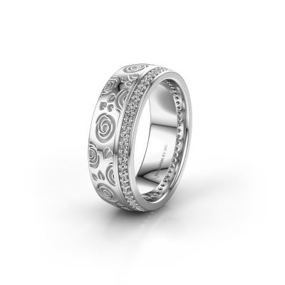 Trouwring WH2066L27D 925 zilver diamant 0.295 crt ±7x2.4 mm