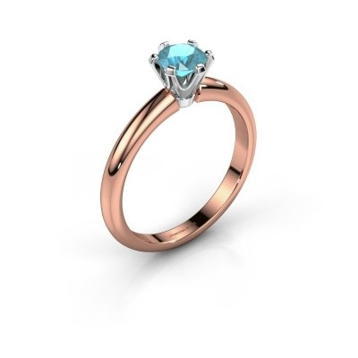 Picture of Engagement ring Tiffy 1 585 rose gold blue topaz 5 mm