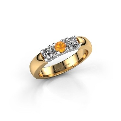 Picture of Engagement ring Rianne 3 585 gold citrin 3.4 mm