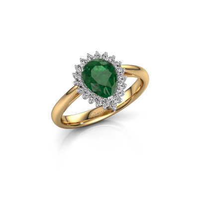 Picture of Engagement ring Tilly per 1 585 gold emerald 8x6 mm
