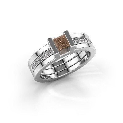 Picture of Ring Desire 585 white gold brown diamond 0.535 crt