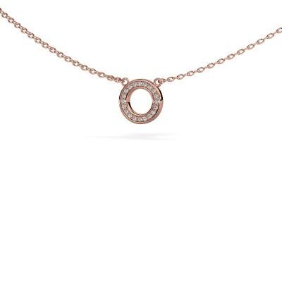 Foto van Hanger Round 2 375 rosé goud lab-grown diamant 0.05 crt