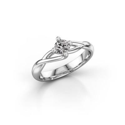 Foto van Verlovingsring Paulien 585 witgoud diamant 0.30 crt