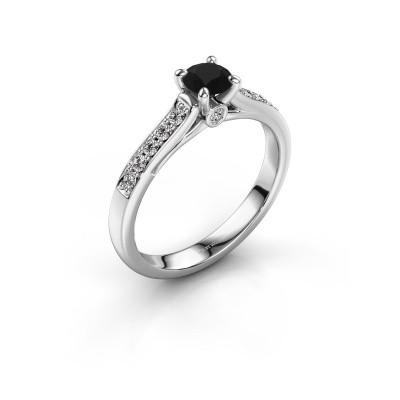 Foto van Verlovingsring Valorie 2 925 zilver zwarte diamant 0.48 crt