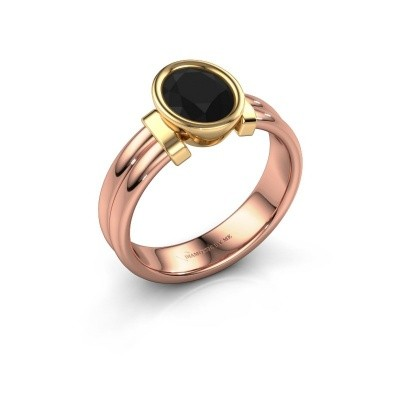 Ring Gerda 585 rose gold black diamond 1.380 crt