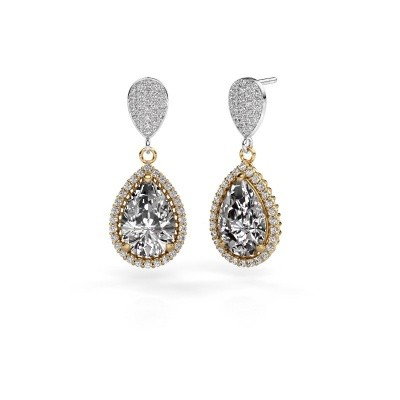 Foto van Oorhangers Cheree 2 585 goud diamant 6.690 crt