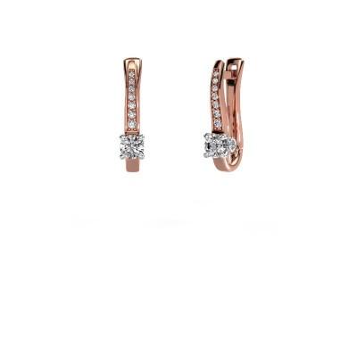 Oorbellen Valorie 585 rosé goud lab-grown diamant 0.68 crt