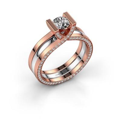 Foto van Ring Kenisha 585 rosé goud diamant 1.08 crt