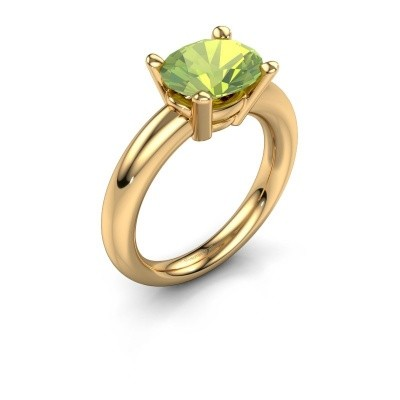 Ring Janiece 585 gold peridot 10x8 mm