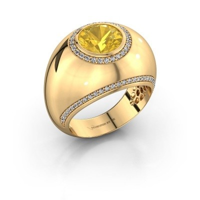 Ring Roxann 375 goud gele saffier 8 mm