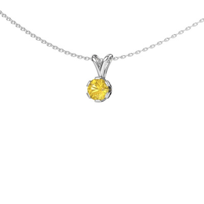 Photo de Collier Julia 585 or blanc saphir jaune 5 mm