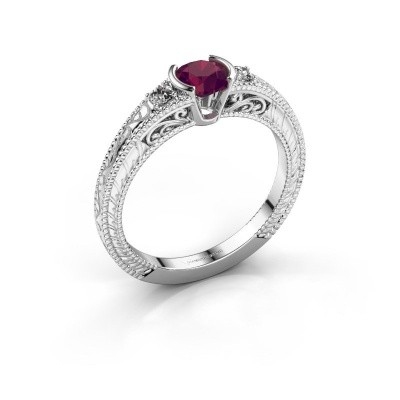 Picture of Engagement ring Anamaria 925 silver rhodolite 5 mm
