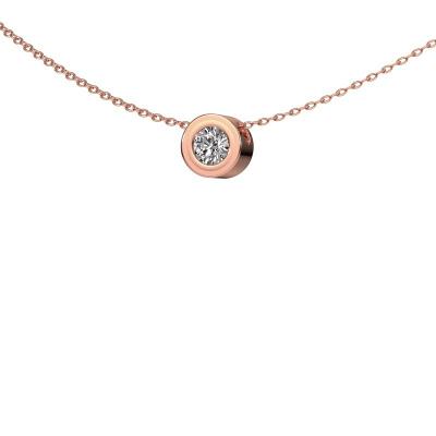 Foto van Hanger Ise 375 rosé goud diamant 0.25 crt