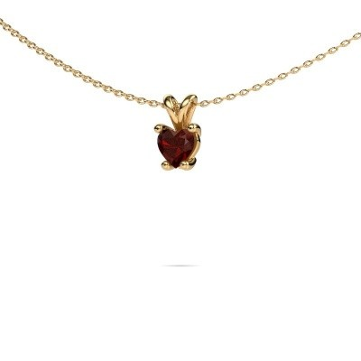 Ketting Sam Heart 375 goud granaat 5 mm