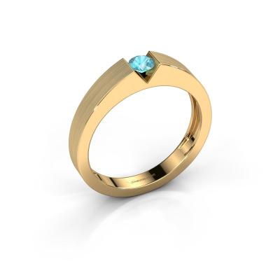 Verlovingsring Lizzy 1 585 goud blauw topaas 3.7 mm