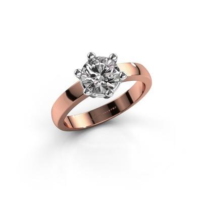 Verlovingsring Luna 1 585 rosé goud diamant 1.00 crt