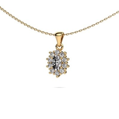 Picture of Necklace Leesa 375 gold lab grown diamond 1.60 crt