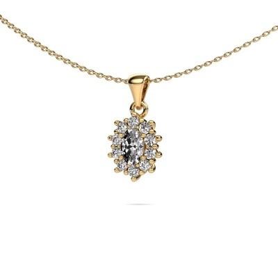 Foto van Ketting Leesa 375 goud lab-grown diamant 1.60 crt