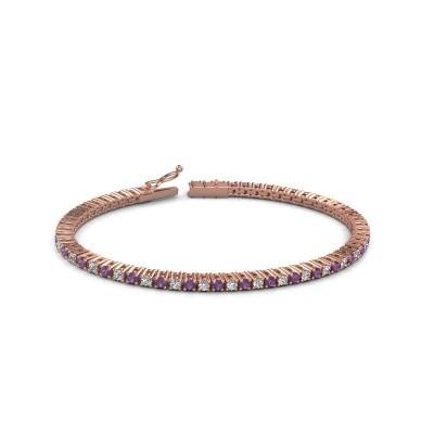 Foto van Tennisarmband Karisma 375 rosé goud amethist 2.4 mm