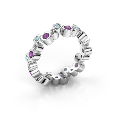 Ring Tessa 585 witgoud amethist 2.5 mm