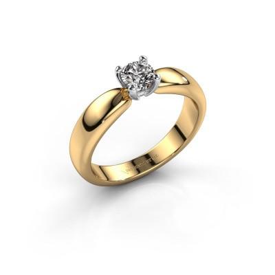 Promise ring Katrijn 585 goud diamant 0.40 crt