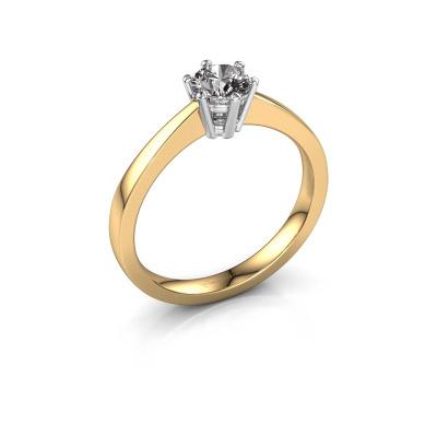 Bague de fiançailles Noortje 585 or jaune diamant 0.40 crt