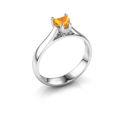 Engagement ring Sam Heart 925 silver citrin 5 mm