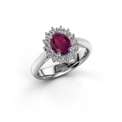 Picture of Engagement ring Margien 1 925 silver rhodolite 7x5 mm