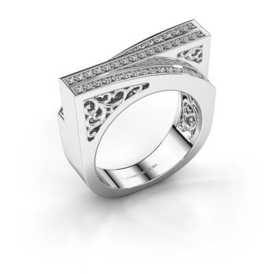 Ring Magda 925 zilver zirkonia 1.2 mm