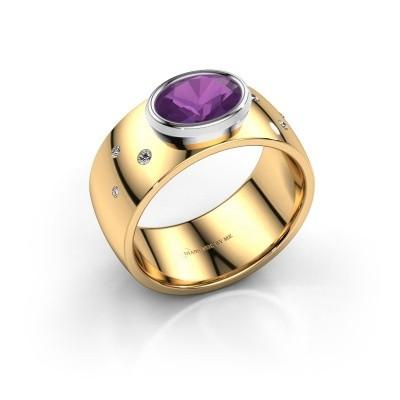 Ring Wilma 2 585 goud amethist 8x6 mm