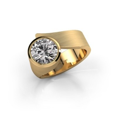 Ring Nakia 585 goud zirkonia 8 mm