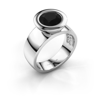 Ring Maxime 925 silver black diamond 2.40 crt