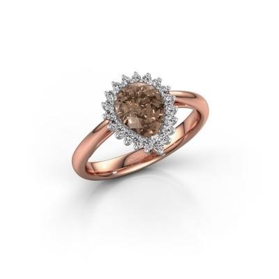 Foto van Verlovingsring Chere 1 585 rosé goud bruine diamant 0.95 crt