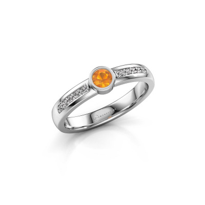 Engagement ring Ise 2 925 silver citrin 3.7 mm