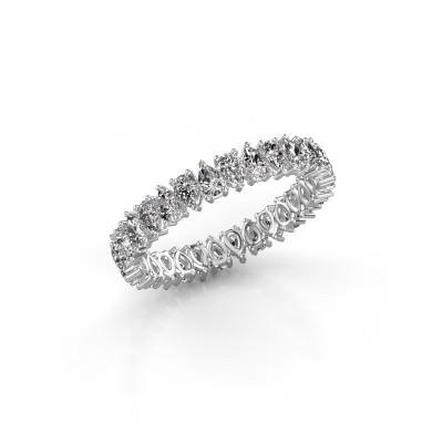 Foto van Aanschuifring Nicola 3x2 585 witgoud diamant 3.90 crt