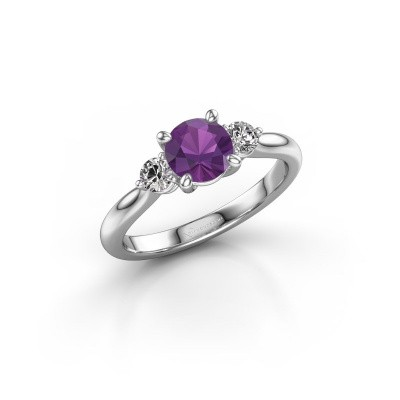Picture of Engagement ring Lieselot RND 950 platinum amethyst 6.5 mm