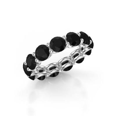 Foto van Ring Kirsten 5.0 585 witgoud zwarte diamant 7.80 crt