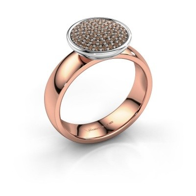 Picture of Ring Tilda 585 rose gold brown diamond 0.305 crt
