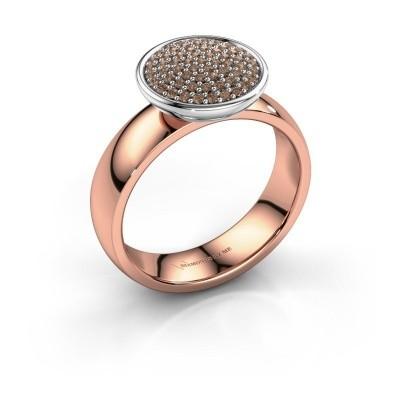 Foto van Ring Tilda 585 rosé goud bruine diamant 0.305 crt