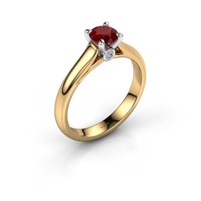 Foto van Verlovingsring Valorie 1 585 goud robijn 5 mm