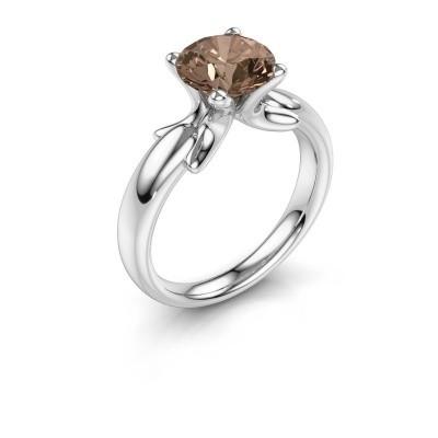 Bague Jodie 925 argent diamant brun 2.00 crt