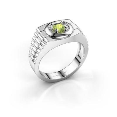 Foto van Rolex stijl ring Edward 585 witgoud peridoot 4.7 mm