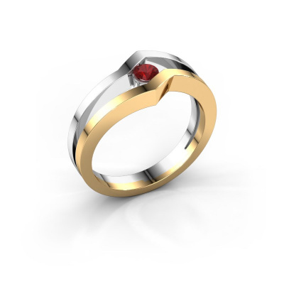 Ring Elize 585 gold ruby 3.4 mm