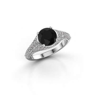 Foto van Ring Lovella 585 witgoud zwarte diamant 2.189 crt