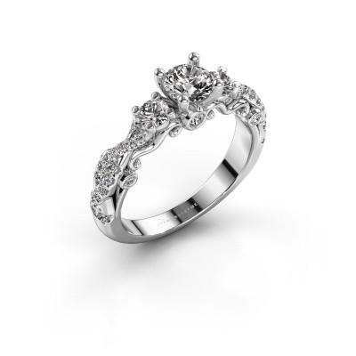 Foto van Verlovingsring Kourtney 950 platina diamant 1.056 crt