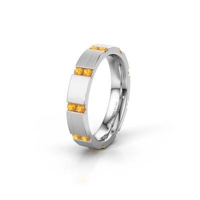 Weddings ring WH2132L14BM 950 platinum citrin ±4x2.2 mm